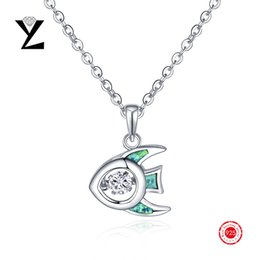 Top Quality 925 Sterling Silver Opal Necklaces & Pendants with Dancing CZ Diamond Pendant Bijoux Femme for Women Sterling Silver Jewelry