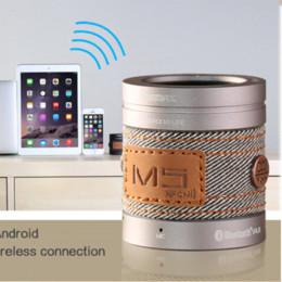 Compra Online China inalámbrica inteligente-iMeaning Super Bass portátil Mini Altavoz Bluetooth para PC Phone acero del metal del Smart Hands Radio del altavoz libre para el running