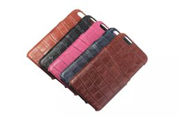 Luxury imitation crocodile PU leather Case For iphone 6 4.7''inch Simple Retro Back Cover Shell Cellphone Protective Casing Wholesale