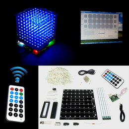 Wholesale Christmas Gift DIY D S LED mini Light Cube remote control animation Effects D CUBE x8x8 D Kits Junior D LED Display
