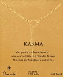 Dogeared Necklace with circle pendant(Karma),noble and delicate, no fade, free shipping and high quality.