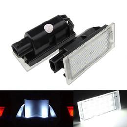 x Error Free 18SMD LED License Plate Light Car Lamps Source Auto Bulb for Renault Twingo II Clio III Megane II Laguna III VWL