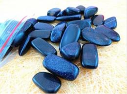 Wholesale Natural blue glidstone sands stone nunatak nubble diy aquarium decoration gravel fish tank flower crystal pot magnet