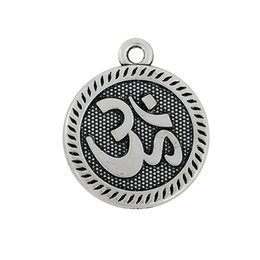 Wholesale Myshape Charms Jewelryh yoga circle charm silver plated DIY sports fitness charms the pendant for bracelets necklaces
