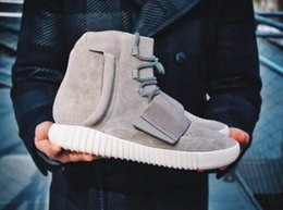 Wholesale 2016 Brand New Kanye West Boost Sneakers Ankle Boots Basketball Shoes Best Quality Athletic Boot Outdoor Shoe SIZE US7