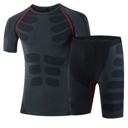 New Compression Tights Suit Fitness Short Sleeve Shirt Quick Dry Gym Training Tracksuit Sport Polyester Running Set Yoga set Men 60036004