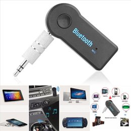 Wholesale Universal Bluetooth Car Kit mm Streaming A2DP Wireless AUX Audio Music Receiver Adapter Handsfree with Mic For Phone MP3 iPAD