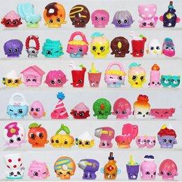 Wholesale 50 Cheap Shopkin Figures shop Toy Kins Season Mini Figures Shopkin Toys Shopping Basket Pretend Play Toys Best Gifts For Kids