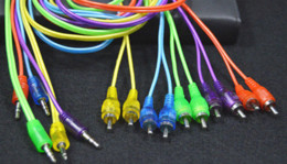 Wholesale MM Male Jack to AV RCA Male Stereo Music Audio Cable Cord AUX for Mp3 Pod Phone TV