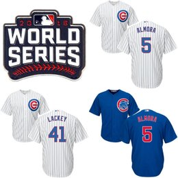 Wholesale Youth Kids World Series Champions Cubs Jersey Albert Almora Jr Dexter Fowler Rob Zastryzny Willson Contreras Lackey