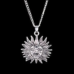 Wholesale 2016 jewelry Bronze Argent alloy rock Movie Tomorrowland Helios Smiley face sun pendant necklace boy men Hot ZJ