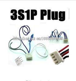 10set Lipo battery plug 3S1P plug 11.1V 3S 3S1P 150mm RC LIPO battery balance charger plug