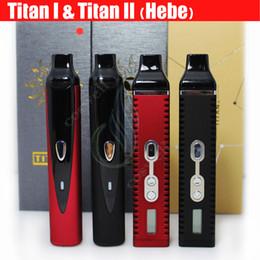 Wholesale Top quality Titan I Titan II HEBE Herbal vaporizer wax dry herb Vapor atomizer Kit mAh LCD Vape pen e cig cigarettes vaporizers DHL