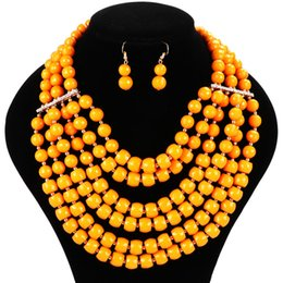 Trendy necklace with earrings for party wedding Women Statement necklace Jewelry sets free shipping 2016 new arrival