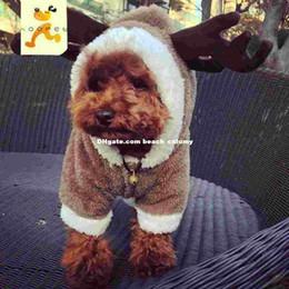 2017 fuentes del perro muelles DHL libre Pet cuatro pies de Navidad alces perro caliente del invierno trajes ropa ropas Osos de peluche de la ropa Suministros perros pequeños VIP otoño del resorte fuentes del perro muelles en venta