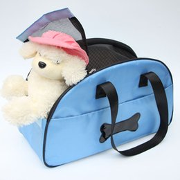 Wholesale Hot Sales Portable Puppy Kennel Handbag Pet Carrier Outdoor Travel Nylon Mesh Shoulder Dog Bag Tote Dog Carrying HB0031 salebags