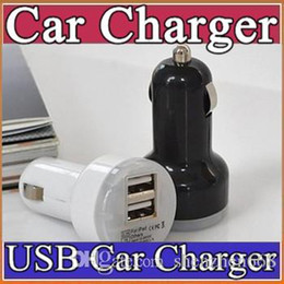 Wholesale 100X Colorful Mini Car Charger ports Cigarette Port A Micro auto power Adapter Nipple Dual USB for Phone s plus samsung s7 M SC