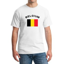 New 2016 BELGIUM Football Fans Cheer T-Shirts Men's Clothing European Cup Fitness Sports National Flag Tops & Tees For Men