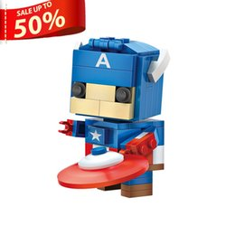 Captain America Big Sale Mecha The Avengers DIY Action figures Mini Building Blocks Assembly Toys Small Blocks Christmas Gift