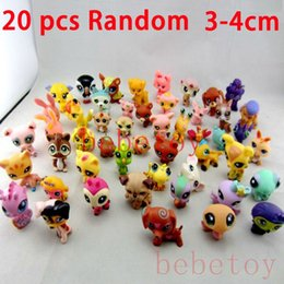 Wholesale 20pcs set cm mini doll littlest pet shop animal catoon minifigures Juguetes Brinquedos Toys girls LPS gift