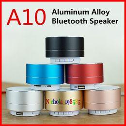 Wholesale A10 PK S10 Mini Wireless Bluetooth Speaker Modern Aluminum Alloy Cylinder Speakers Subwoofers TF Card Mini wireless Bluetooth Speakers