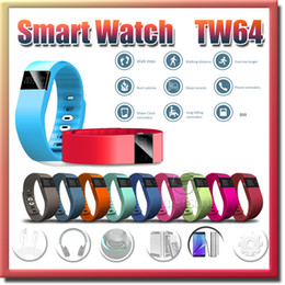 TW64 Smart Bracelet Bluetooth Smart Wristbands Smart Watch Waterproof & Passometer & Sleep Tracker Activity Monitor 1pcs Free shipping