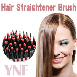 Wholesale Hair Straightening Iron LCD Auto Display Digital Temperature Control Flat Brush Irons Hot Air Fast Straightener Comb