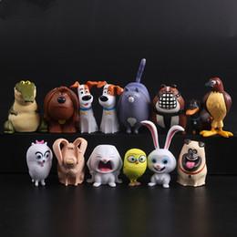 Wholesale 14pcs set The Secret Life of Pets Movie Animal Action Figure Toys