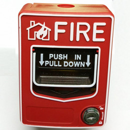 Conventional Manual Call Point 2 wire fire alarm button can be reset by a key without breaking glass