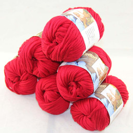 LOT of 6 BallsX50g Special Thick Worsted 100% Cotton Knitting Yarn Ruby Red 2223
