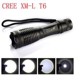 Luces individuales con pilas en venta-CREE XM-L T6 4000LM cree llevó la antorcha de la luz de la antorcha de la linterna del LED del cree LED para 3xAAA o la batería 1x18650 (sola linterna)