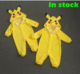 Animales libres en Línea-Bebé de dibujos animados Pikachu mamelucos Cute Poke animales de una sola pieza de ropa de invierno Santa Claus ropa mono bebé bebés mamelucos envío gratis
