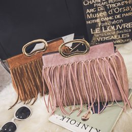 Wholesale Cheap Wholesale Fashion Handbag - 2016 new designer handbags with tassels for women, girls, grey, pink, red, black, yellow, handcarry, cross body, shoulder bag price cheap