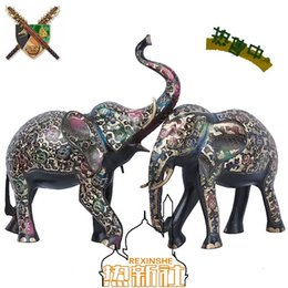 The anniversary anniversary special offer special offer Pakistan color black paint bronze elephant handmade works of Art