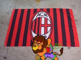 polyester 90*150cm,Associazione Calcio Milan Italy football Flag ACM,Digital Printing