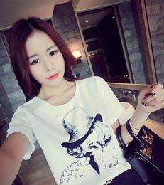Wholesale 2016 Brand New Summer Womens T Shirts Short Sleeve Tops Tees Tshirt Fashion For Women Ladies Beauty Star Print t shirts