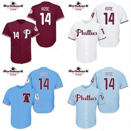 Wholesale Philadelphia Phillies Pete Rose cool base New Design throwback Baseball Jersey S XL For Sale stitched