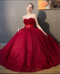 100%real lace wine red 3d flower beading court medieval dress Renaissance gown royal Victoria dress princess cosplay Belle Ball