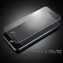 2017 iphone vidrio de alta calidad De alta calidad de Iphone 5 5S 5C claro cristal templado protector de la pantalla 2.5D protector de borde redondo para Iphone 6 6 6s más - YH0079 iphone vidrio de alta calidad en oferta