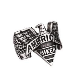 United States American Biker Eagle Mens Vintage US Ring Size 7-13