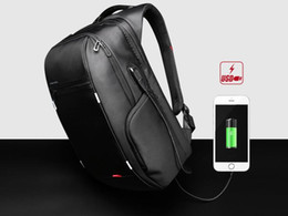Wholesale External USB Charge business backpack water resistant notebook backpack bag in laptop bag travel sport backpacks camping hiking bags