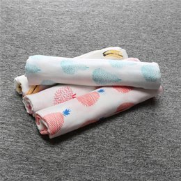 Wholesale Baby Muslin Swaddles Ins fruits Wraps Blankets Nursery Bedding Newborn Organic Cotton Ins Swadding Bath Towels Parisarc Quality