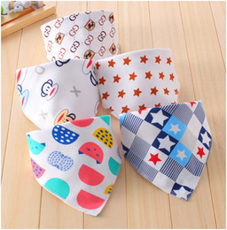 Wholesale Cute Unisex Boy Girl Baby Bandana Drool Bibs Washable Feeding Eating Bib Set for Boys Girls Absorbent Cotton Adjustable Double Snaps