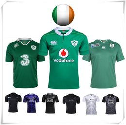 Wholesale With Logo name AIG Super RWC IRELAND NATIONAL Rugby jersey all blacks football shirt teams Sport