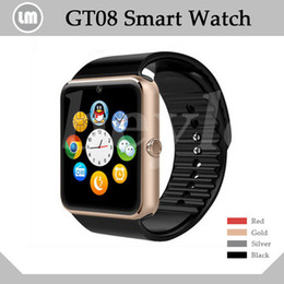 Wholesale GT08 Bluetooth Smart Watch With SIM Card Slot NFC Health Watchs For Android Samsung and IOS Iphone Smartphone Bracelet Smartwatch In Box