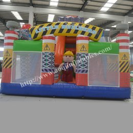 AOQI kids play inflatables indoor jumping little builder fun city for sale made in guangzhou China