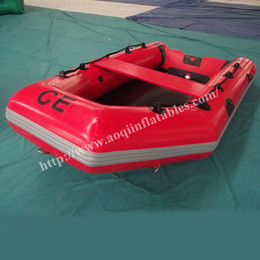Wholesale AOQI amusement park equipment great water game adult inflatable boat top quality inflatable fishing boat for promotion