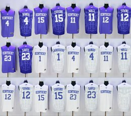 Wholesale College Kentucky Wildcats John Wall Rajon Rondo Skal Labissiere Karl Karl Anthony Towns Purple jersey size small s xl