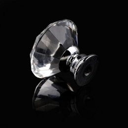 Wholesale 1pack mm Diamond Shape Woodworking Crystal Glass Knob Cupboard Drawer Pull Handle New