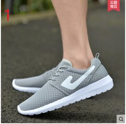 Wholesale Men Casual Shoes New Arrival Men s Fashion Solid Breathable Lazy Shoes Male Plus Size Slip Network Shoes